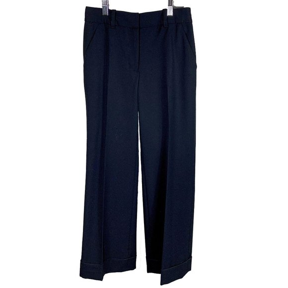 3.1 Phillip Lim Black Flared Cuffed Pants Trousers